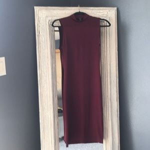Forever 21 Maroon fitted dress